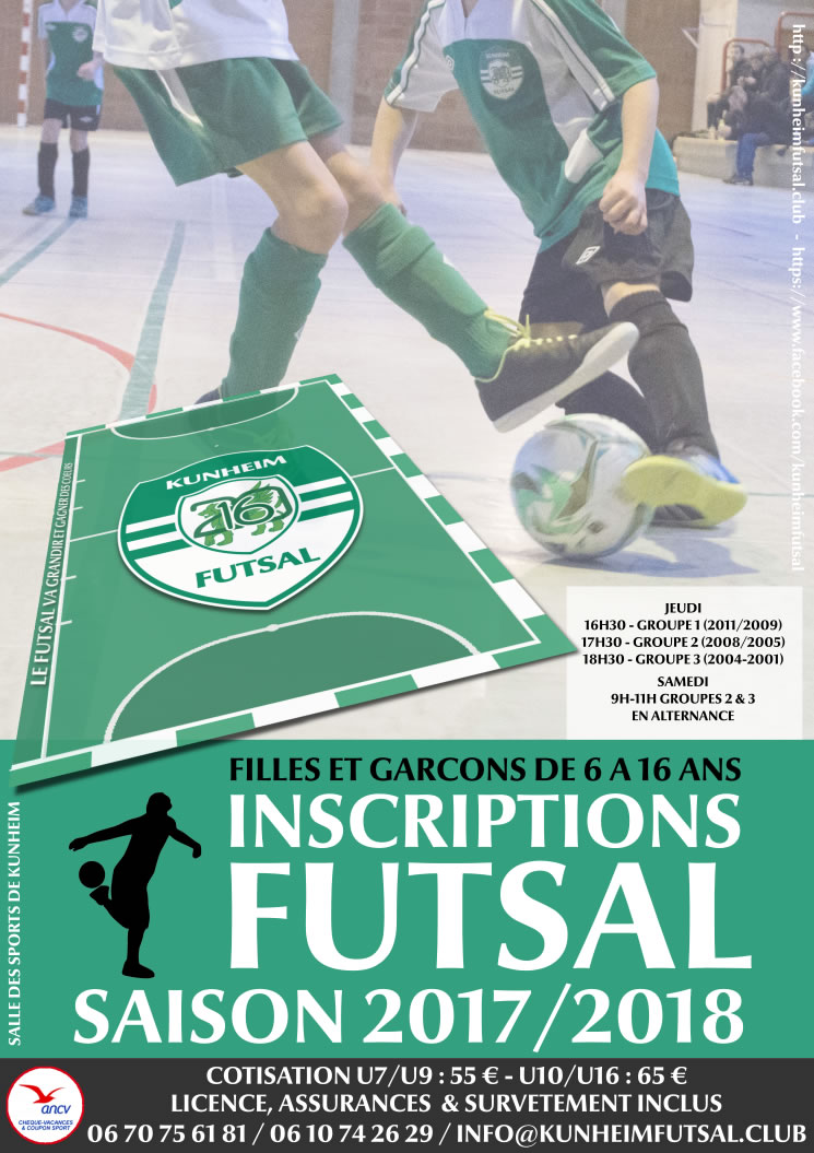 Kunheim Futsal inscription 2017-2018