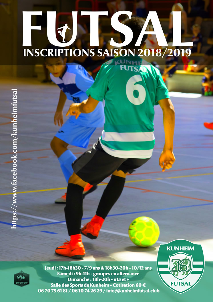 Kunheim Futsal inscription 2018-2019