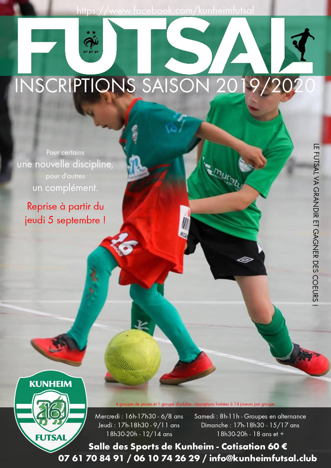 Kunheim Futsal inscription 2019-2020